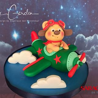 Teddy bear pilot - Cake by Cake Garden