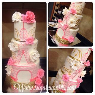 Paris Themed cake - Cake by Oribel