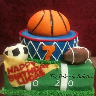 Sports Cake - Cake by Jeanette Rodriguez