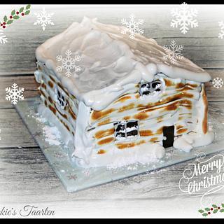 winter chalet - Cake by Sjakkie's Taarten