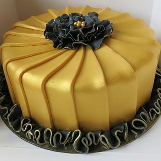 Golden-black cake