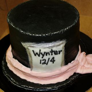 Top Hat cake Buttercream Mad Hatter