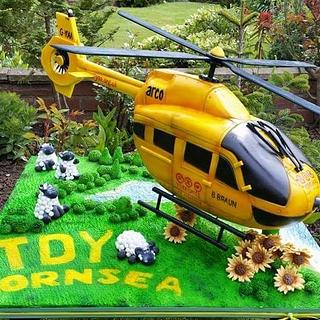 Yorkshire Air Ambulance TDY  Helicopter Cake