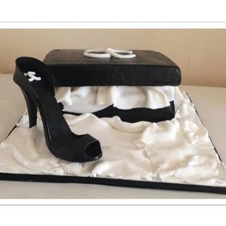 Chanel shoe and box set - Cake by Gregan Brown