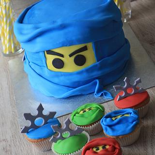 """Ninja"" LEGO cake and cupcakes - Cake by VitlijaSweet"