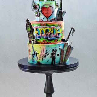 Graffiti Cake