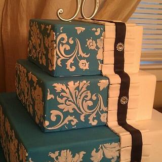 Blue Wedding - Cake by Erica Floyd Bradley