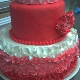 Ombre Ruffle Cake..