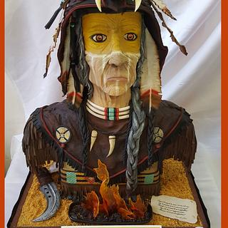 Native american cake - 1ere place ShowCake Lyon