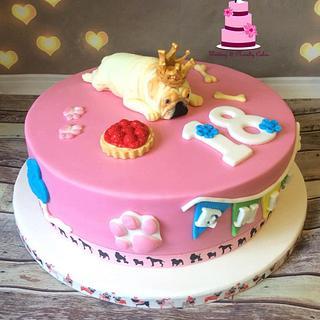 Pug cake