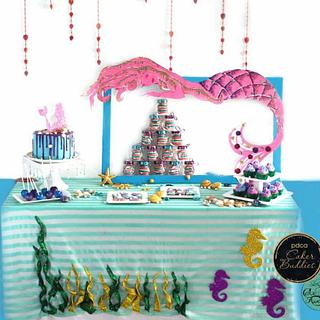 PDCA Caker Buddies Collaboration - Mermaid Theme Dessert Table