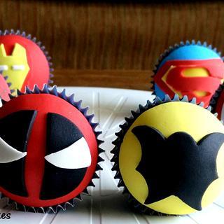Super Hero Cupcakes! - Cake by Suman