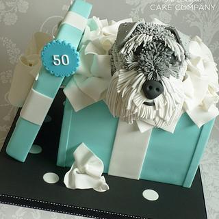 50th wedding anniversary gift box cake