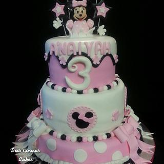 tiers of pink...Minnie Mouse