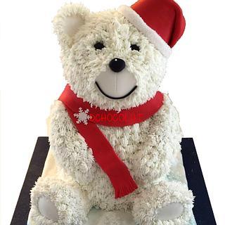 Christmas Teddy Bear - Cake by Dchocolat