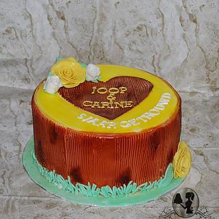 Wooden cake