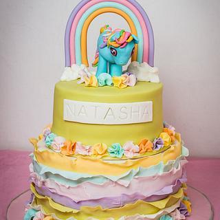 Rainbow and Ruffles Rainbow Dash Cake