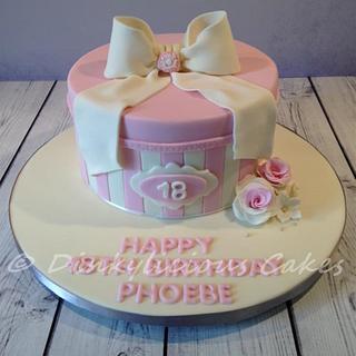 Pretty pink hatbox