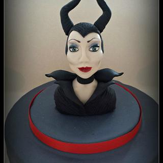Maleficient cake topper
