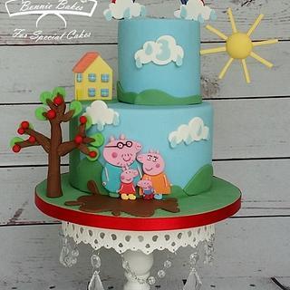 Peppa pig cake - Cake by Bonnie Bakes UAE