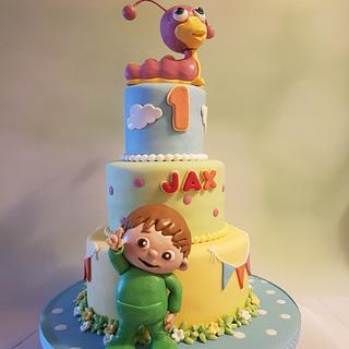Baby tv cake - Cake by Anneke van Dam