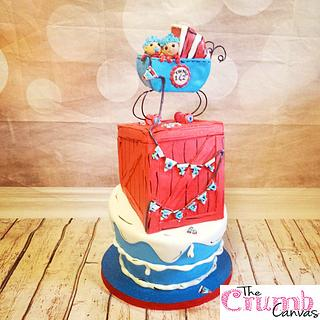 thing 1 and 2 baby shower cake