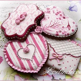 Toile de Jouy cookies