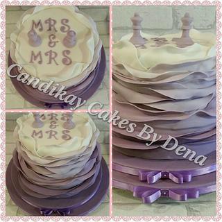 2 Tier Wedding Cake - Cake by Dena Schofield