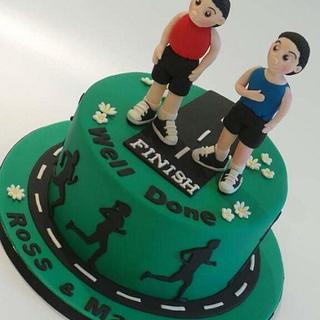 Marathon Runners Cake - Cake by Jules Sweet Creations