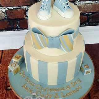 Jack, Cody & Lennon - Christening Cake