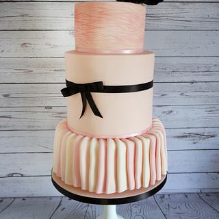 Fashion inspired cake; Valli dress