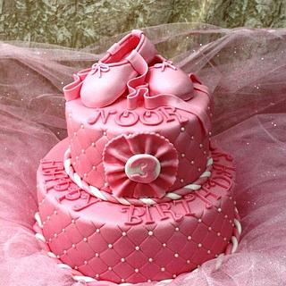 Ballet shoes & tutu cake