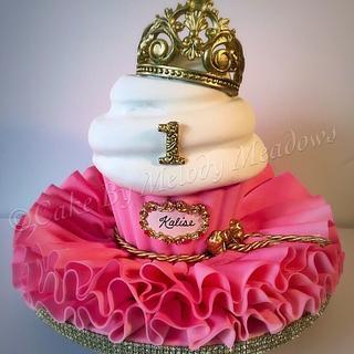 Giant cupcake princess cake