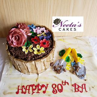 80th birthday  - Cake by neetascakes