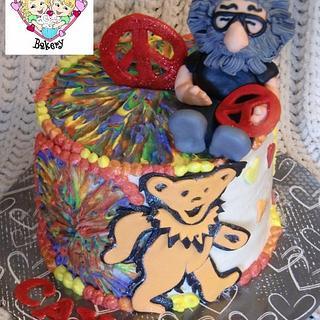 Peace, Love, and Garcia Birthday Cake