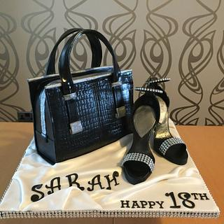 Boxing Day 18th Birthday Glitz - Cake by Jill saunders