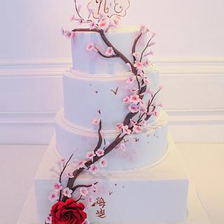 Cherry blossom cake - Cake by Mé Gâteaux