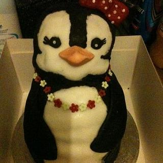 mini penguin cake