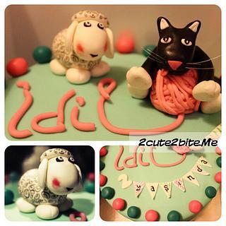Lamb&Cat  - Cake by 2cute2biteMe(Ozge Bozkurt)
