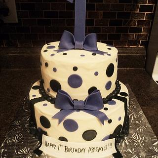 1st Birthday Polka Dots