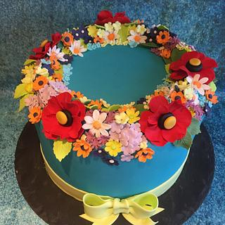Summer Flowers - Cake by Una's Cake Studio