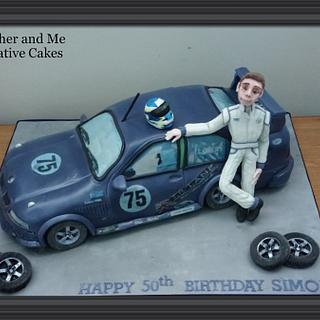 Carved car cake