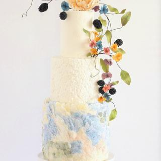 Odilon Redon Watercolor Inspired Cake For Cake Central