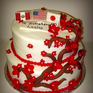 Cherry Blossom Farewell Cake