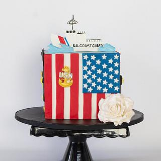 Military Love - Cake by Anchored in Cake
