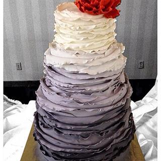 Ombré grey wedding cake
