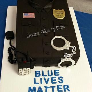 Police Uniform - Cake by Creative Cakes by Chris