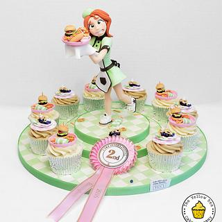 Lulu the Waitress - Cake by Yellow Bee Sugar Art by Vicky Teather