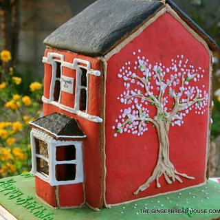 Blossom tree gingerbread house