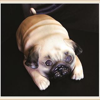 Pug Puppy - Cake by Nicki Sharp